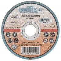 Unifix Mola da taglio Ø 115 mm pietre rivestimento, ceramica spessore 1,3 mm