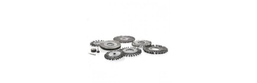 Spazzole, ruote ed elementi abrasivi per trapani