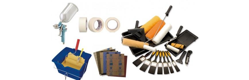Pennelli, rulli, accessori e protezione